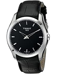 Tissot Men's T0354461605100 Couturier Analog Display Swiss Quartz Black Watch