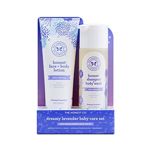 - The Honest Company 2-Piece Ultra-Calming Dreamy Lavender Shampoo + Body Wash (10 oz.) & Baby Lotion (8.5 oz.) Bundle - Tear-Free Baby Shampoo, Sulfate- & Paraben-Free Baby Bath