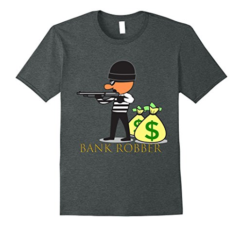 Bank Robber Costume For Halloween (Mens COOL: Bank Robber Money Halloween Costume Shirt 2XL Dark Heather)