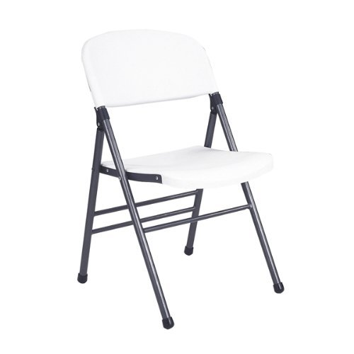 Commercial Grade Molded Folding Chair in White (Set of 4) [Set of (Molded Folding Chair)
