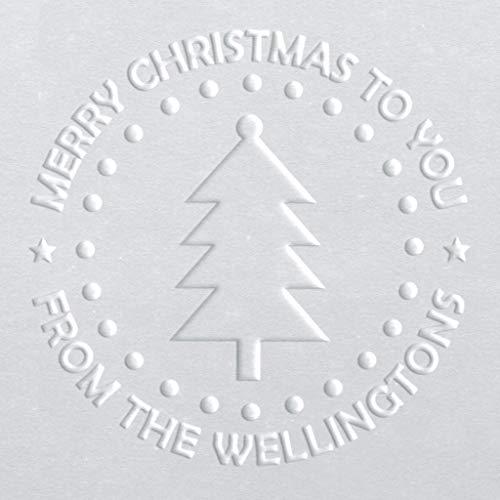 Circular Embosser | Holiday Embosser | Customizable Embosser | Christmas Embosser | Custom Seal | Personalized Embosser | Name Embosser | Christmas Tree