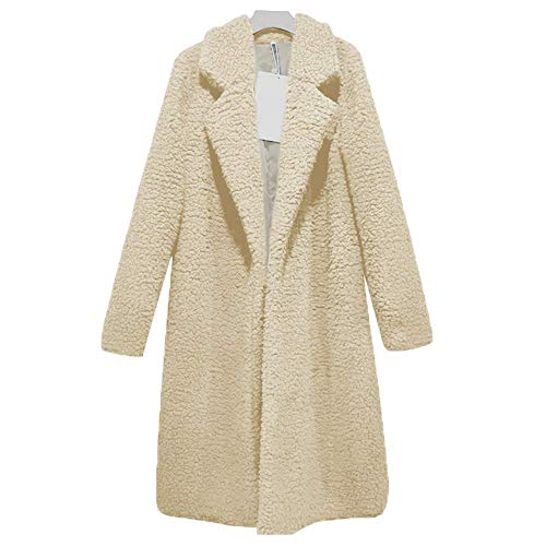 - Women Winter Fuzzy Faux Fur Jacket Casual Long Sleeve Outdoor Shearling Coat Boyfriend Faux Coat K XXL