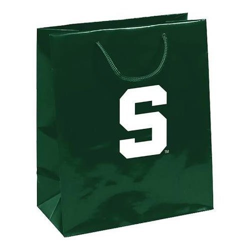 Pro Specialties Group NCAA Michigan State Spartans Gift Bag, Green, One Size (State College Watches Michigan Spartans)