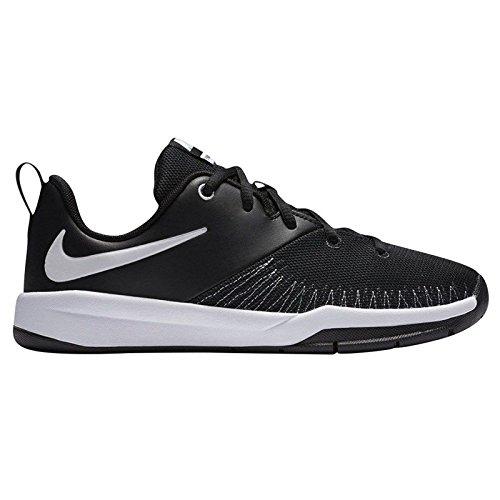 NIKE Boy's Team Hustle D 7 Low (GS) Basketball Shoe Black/White Size 6 M US