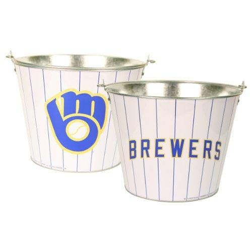 MLB Officially Licensed Milwaukee Brewers Aluminum Ice Bucket
