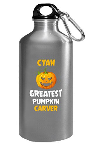 Cyan Greatest Pumpkin Carver Halloween Gift - Water Bottle