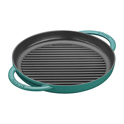 Staub Cast Iron 10-inch Pure Grill – Turquoise