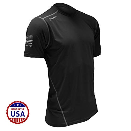 MudGear Fitted Race Jersey Short Sleeve - Performance Fabric Shirt for a Mud Run and Outdoor Sports (Medium, Black)