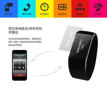 Bluetooth Watch,Facleta NEW Smart Bluetooth Bracelet Healthy Wristband fitness Tracker for IPhone and Andoid Mobiles(Black)