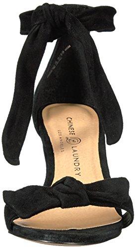 e95f556d39 Chinese Laundry Women's Rhonda Kid Suede Dress Sandal, Black, 6 M US