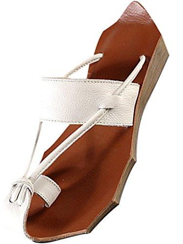 Fait en Vintage Été Femmes Blanc Main Cuir Bigassets Tongs Pantoufles nU1pXqwA