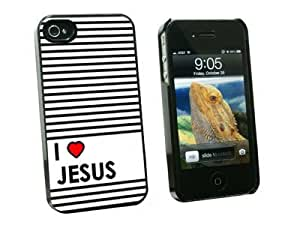 Graphics and More I Love Heart Jesus - Christian Religious - Snap On Hard Protective Case for Apple iPhone 6 4.7 - Black - Carrying Case - Non-Retail Packaging - Black