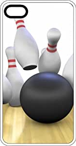 Bowling Frame Strike White Plastic Case for Apple iPhone 5 or iPhone 5s