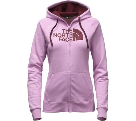Print Jersey The North Face - The North Face Half Dome Full Zip Hoodie Women's Lupine/Deep Garnet Red Medium