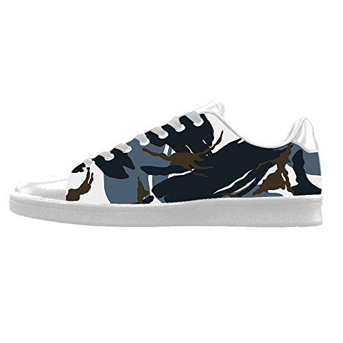 I Di Lacci Shoes Canvas Tela Alto Scarpe Le Delle Custom Men's Camuffamento In Sopra Da Ginnastica RXfxtqnI6