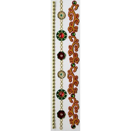Sticko & Jolee's Boutique Parcel Dimensional Stickers: Ornamental Xmas (Jolees Parcel Border Stickers)