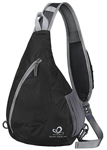 Waterfly Sling Bag, Waterproof Chest Shoulder Crossbody Hiking Backpack...