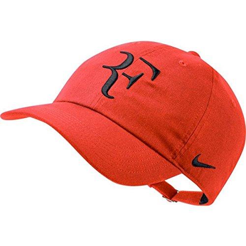 NIKE RF Roger Federer Aerobill H86 Cap (Habanero Red/Black)
