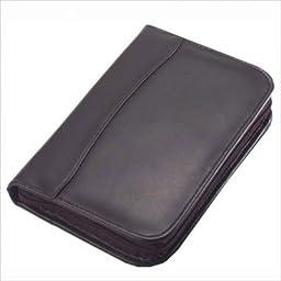 Clava Leather Junior Zippered Padfolio Black