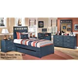 ashley leo 4 piece bedroom set with twin size panel bed dresser nightstand and mirror ashley leo twin bedroom set