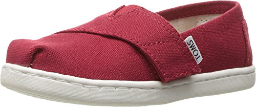 TOMS Kids Alpargata 2.0 (Infant Little Kid), Red Canvas, 9 Toddler M (Red Tom)