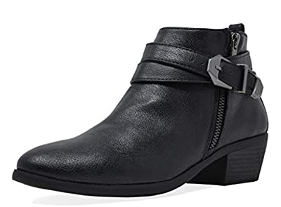 TOETOS Women's Block Heel Ankle Booties