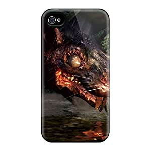 Premium LydgGSs2248TNNBl Case With Scratch-resistant/ Dark Souls Rat Case Cover For Iphone 4/4s