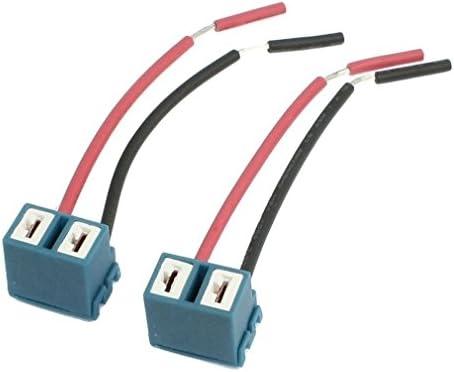 TOOGOO (R) 2 Stueck Abgewinkelter Stecker H7 Keramik Extention Scheinwerfer Lampen Stecker Verdrahtungen Harness