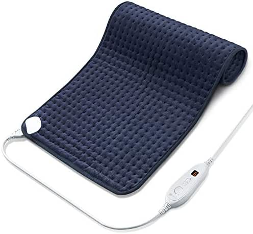Utaxo Heating Pad for Pain Relief, 6 Electric Temperature Options, XXX-Large King Size SoftTouch, Machine Washable Microfiber, with Fast-Heating Technology, Moist Heat Therapy, 33 x 17 Inch