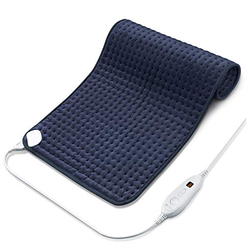Utaxo Heating Pad for Pain Relief, 6 Electric Temperature Options, XXX-Large King Size SoftTouch, Machine Washable Microfiber, with Fast-Heating Technology, Moist Heat Therapy, 33 x 17 Inch (Small Electric Heating Pad)