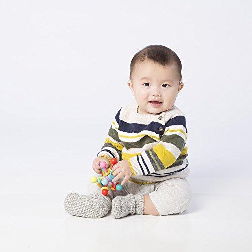 41 EvXtoXVL - Manhattan Toy Atom Rattle & Teether Grasping Activity Baby Toy