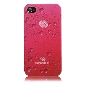 Snekz - Carcasa rígida para iPhone 4 y 4S con diseño de burbujas, color rosa