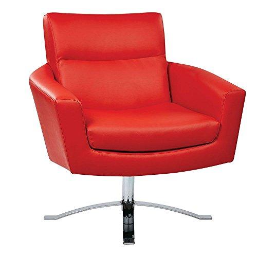 Nova Modern Club Chair in Faux Leather Dimensions: 31.5