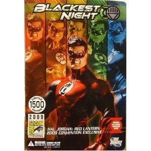 DC Direct Green Lantern Blackest Night 2009 SDCC San Diego ComicCon Exclusive Action Figure Hal Jordan RED Lantern