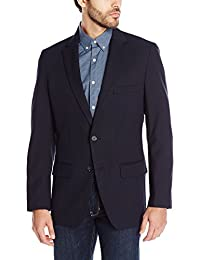 Haggar mens Travel Stretch Tailored Fit 2-button Side Vent Solid Blazer