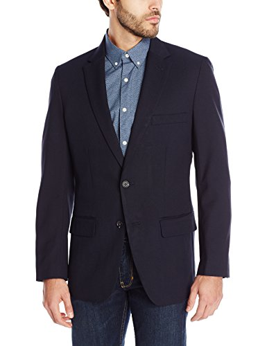 Haggar Clothing Men's Tailored Fit In Motion Blazer - 42 Regular - (Midnight Blue Coat)