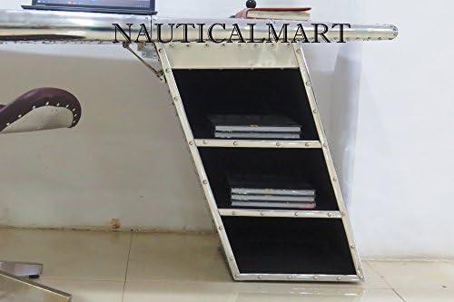 NAUTICALMART Mesa de Escritorio de Aluminio para Aviador: Amazon ...