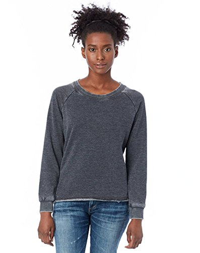 (Alternative Women's Lazy Day Pullover, Washed Black, Large)
