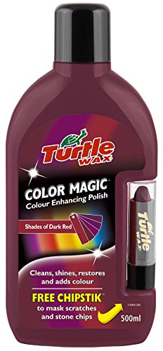 Turtle Wax FG6904 Dark Red Color Magic Plus Colored Car Polish Cleans Shines Restores Scratches Includes Chipstick 500ml (Scratch Polish Car compare prices)