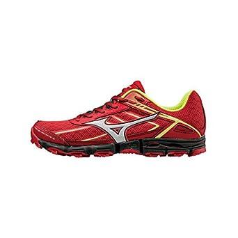 c375488991a3c Mizuno - Zapatillas de running para hombre ChinRed   Silver   SafYellow   Amazon.es  Deportes y aire libre