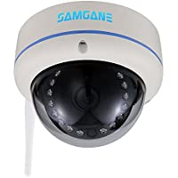 Security wifi Camera,Samgane 1080p HD Indoor Security Surveillance System,POE(Power Over Ethernet),P2P IP Camera,IR Night Vision SD-47W(White)