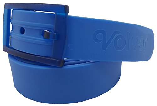 Volver Cool Rubber Golf Belts for Men Adjustable Cut-to-fit Interchangeable Colors (Sky Blue)