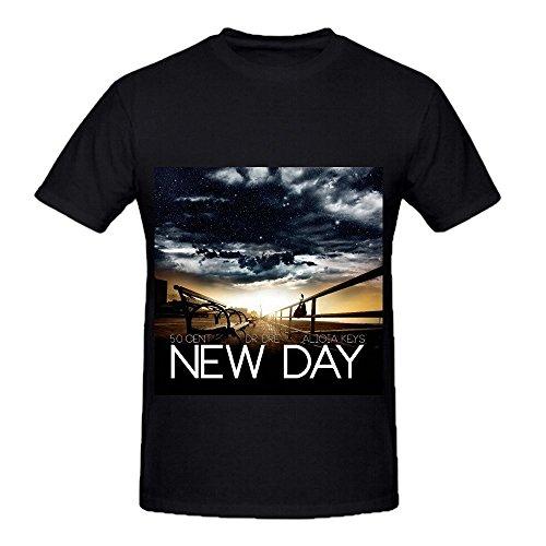 50 Cent New Day Tour Soul Men O Neck Short Sleeve T Shirts Black ()