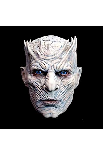 Halloween Or Holloween (Trick or Treat Studios Men's Game of Thrones-Night's King, White Walker Men's Full Head Mask, Multi, One)