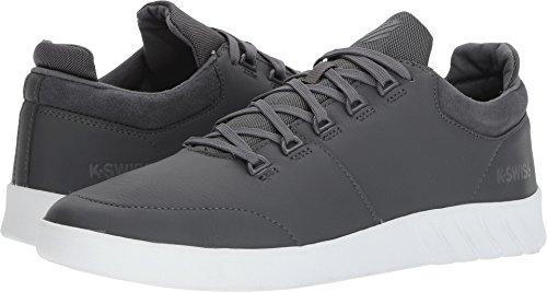 K-Swiss Men's Aero Trainer Sneaker, Castle Gray/Shell/White, 10.5 M US