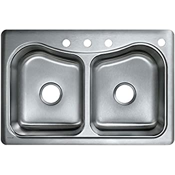 this item kohler k 3369 4 na staccato double basin self rimming kitchen sink stainless steel. Interior Design Ideas. Home Design Ideas