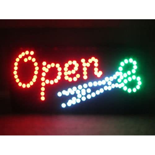 Open Led Moving Animated Scissor Scissors Sign Colors Neon Business Motion Light On Off Switch Button Chain 19x10 For Hair Salon Barber Shop Beauty