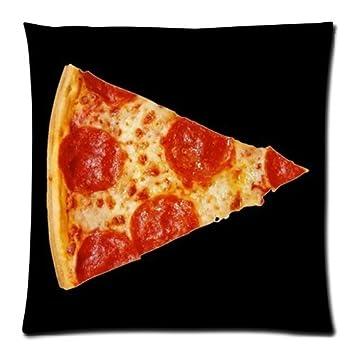 Amazon.com: Decorativos Jamón Pizza Art Throw almohada funda ...