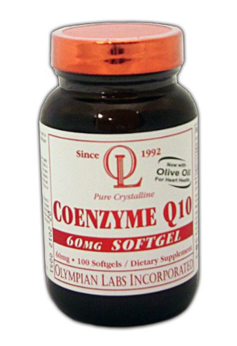 Olympian Labs Coenzyme Q10, 60 mg, gélules 100-Count