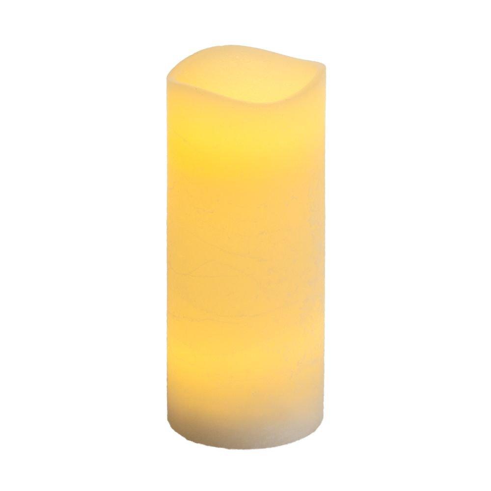 Multi LED Kerze Rustic D:7, 5cm x H:17, 5cm creme Timer Casaya